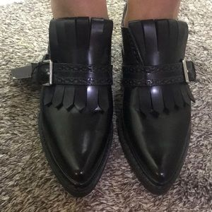 ZARA BLACK OXFORD LOAFERS